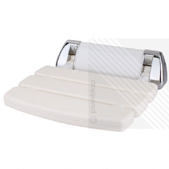 Arian Elegance Plus Bathroom Wall Mounted Folding White/Chrome Shower Seat HF004